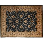 One-of-a-Kind Oushak Hand-Knotted Black Area Rug
