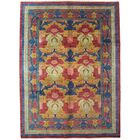 One-of-a-Kind Arts and Crafts Hand-Knotted Blue/Yellow Area Rug Rug Size: Rectangle 9'1