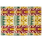 One-of-a-Kind Ikat Hand-Knotted Multicolor Area Rug Rug Size: 4'1