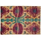 One-of-a-Kind Ikat Hand-Knotted Pink Area Rug