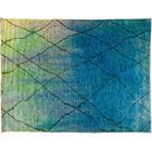 One-of-a-Kind Moroccan Hand-Knotted Blue Area Rug