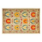 One-of-a-Kind Suzani Hand-Knotted Beige/Red Area Rug Rug Size: Rectangle 4'2