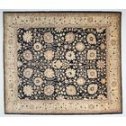 One-of-a-Kind Ziegler Hand-Knotted Black Area Rug