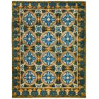 One-of-a-Kind Suzani Hand-Knotted Blue Area Rug Rug Size: Rectangle 9'2