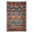 One-of-a-Kind Ersari Hand-Knotted Blue Area Rug Rug Size: Rectangle 5'1
