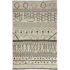 Moroccan Hand-Knotted Beige Area Rug Rug Size: 8'9