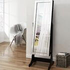 Dazzle Full Length Jewelry Armoire with Mirror Color: Elegant Black