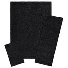 Aviles 3 Piece Black Area Rug Set