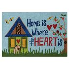 Home Is Where the Heart Is Hand-Woven Blue Area Rug