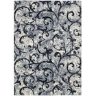 Santa Barbara El Palacio White/Navy Area Rug Rug Size: Rectangle 5'3