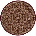 Antiquities Brown Area Rug Rug Size: Round 3'9
