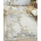 Mcgill Modern Abstract Hand-Woven Ivory/Gold Area Rug Rug Size: Runner 2'3