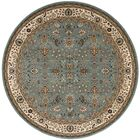 Antiquities Royal Countryside Slate/Blue Area Rug Rug Size: Round 7'10