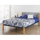 Mcguire Metal and Wood Platform Bed Size: King