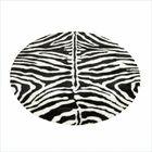 Animal Zebra Narrow Striped Area Rug Rug Size: Round 4'7