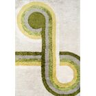 Bullseye Hand-Tufted Green Area Rug Rug Size: Rectangle 7'6