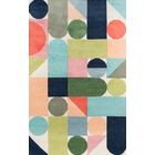 Wright Hand-Tufted Wool Blue/Green Area Rug Rug Size: Rectangle 8' x 10'