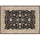 One-of-a-Kind Romona Hand-Knotted Rectangle Black Area Rug