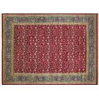 Ankara Abdo Hand Knotted Wool Red Area Rug Rug Size: Rectangle 9' x 12'2