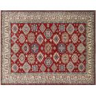 One-of-a-Kind Kazak Super Adiy Hand-Knotted Red Area Rug