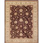 One-of-a-Kind Romona Dark Hand-Knotted Red Area Rug