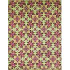 One-of-a-Kind Romona Hand-Knotted Green Area Rug