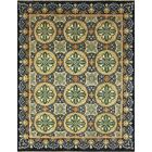 One-of-a-Kind Romona Hand-Knotted Oriental Blue Wool Area Rug
