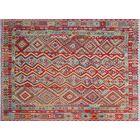 One-of-a-Kind Suellen Kilim Hand-Woven Flatweave Red Area Rug