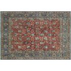 One-of-a-Kind Emmanuelle Distressed Overdyed Hand-Knotted Rust Area Rug