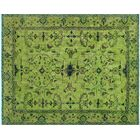 One-of-a-Kind Collette Hand-Knotted Wool Lime Green Area Rug