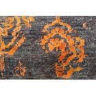 One-of-a-Kind Longoria Distressed Rustam Hand-Knotted Wool/Silk Charcoal Area Rug