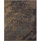 One-of-a-Kind Sandi Hand Knotted Wool Blue Abstract Area Rug