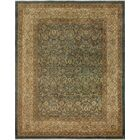 Clearman Knotted Wool Green/Brown Area Rug Size: 8'5