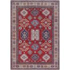 Melina Kazak Hand Knotted Wool Red Area Rug