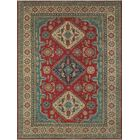 Menzies Kazak Hand Knotted Wool Red Area Rug