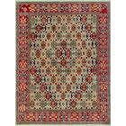 Bruder Kazak Hand Knotted Wool Ivory Area Rug
