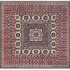 Buckmaster Kazak Hand Knotted Wool Red Area Rug