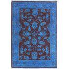 Blakeslee Oriental Hand Knotted Wool Blue Area Rug