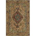 Azure Vintage Distressed Overdyed Hand Knotted Wool Beige Area Rug