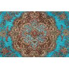 Mamie Vintage Distressed Overdyed Hand Knotted Wool Blue Area Rug