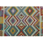 Corda Kilim Hand Woven Wool Rectangle Red Area Rug