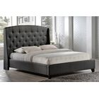 Beadnell Upholstered Wingback Headboard Upholstery: Charcoal, Size: Double