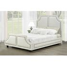Gilmartin Upholstered Panel Headboard Upholstery: Off White, Size: Queen