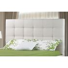 Burkeville Upholstered Panel Headboard Size: Double, Upholstery: Off White