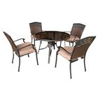Portis 5 Piece Dining Set with Cushions