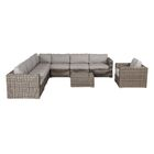 Vardin 9 Piece Sectional Set with Cushions Frame Color: Gray