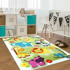 Jodie Kids Animal Green Area Rug Rug Size: Rectangle 3'11