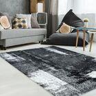 Ashleigh Unique Black/Gray Area Rug Rug Size: 6'3