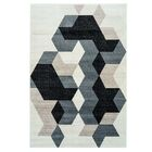 Gaiser Sultan Geometric Black/Gray Area Rug Rug Size: Rectangle 3'11