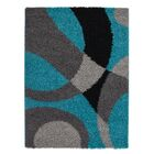 Staten Turquoise/Gray Area Rug Rug Size: Rectangle 6'5